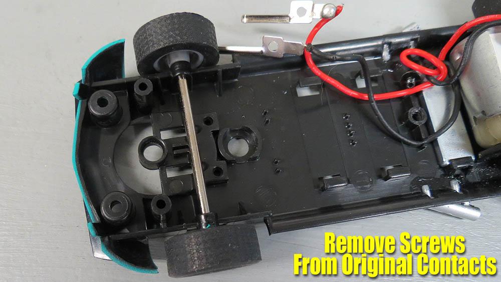 Slot car strap motor